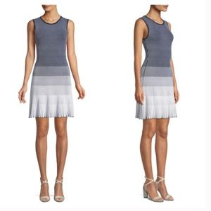 Shoshanna Laidley Ribbed Knit Ombre Dress